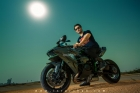 Mazher Shah shoot on Kawasaki H2 against the sun using strobes in Karachi Pakistan 1