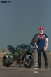 Mazher photoshoot with his Kawasaki H2 in Pakistan