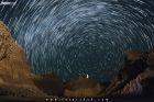 Star Trails over the Princess of Hope near Ormara in Balochistan in Pakistan at night