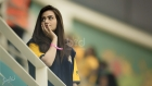 Sana Javed supporting Peshawar Zalmi at Pakistan Premier League 2016