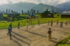 play time of locals at Arang Kel in Azad Kashmir Pakistan
