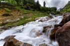 A waterfall between Sharda and Kel in Azad Kashmir Pakistan