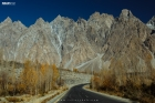 Road to the Pasu Cones in Hunza Gilgit Baltistan Paskitan
