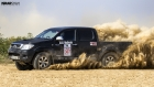 Toyota Hilux Vigo running hard at NooriAbad Offroad Rally 2013