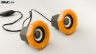 Product Photography - Yellow Speakers