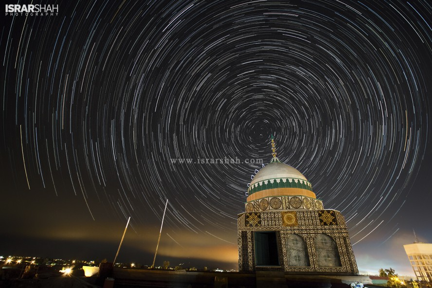 Star Trail over Masjid-e-Mustafa Gumbat